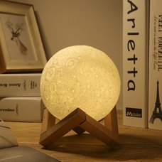 LED Lunar Nightlight featured in Busy Nest New's 11 Must Haves For an Outer Space Themed Nursery