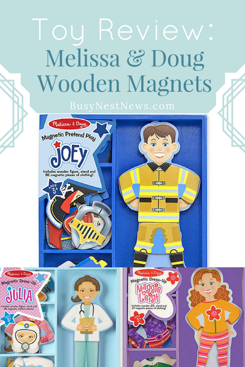 Review of Melissa & Doug Magnetic Dress-Up Sets on BusyNestNews.com