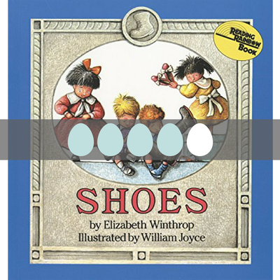 Read a review of the children's book Shoes on BusyNestNews.com