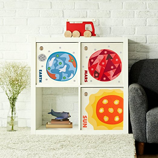 Blue Earth Storage Bin featured in Busy Nest New's 11 Must Haves For an Outer Space Nursery