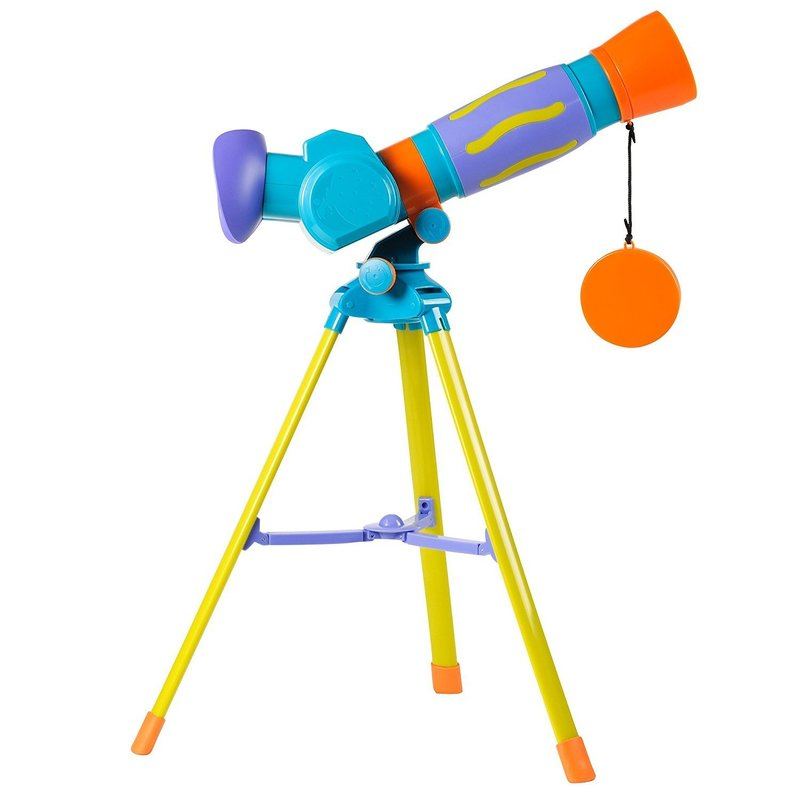 My First Telescope from Geosafari featured in Busy Nest New's 11 Must Haves For an Outer Space Themed Nursery
